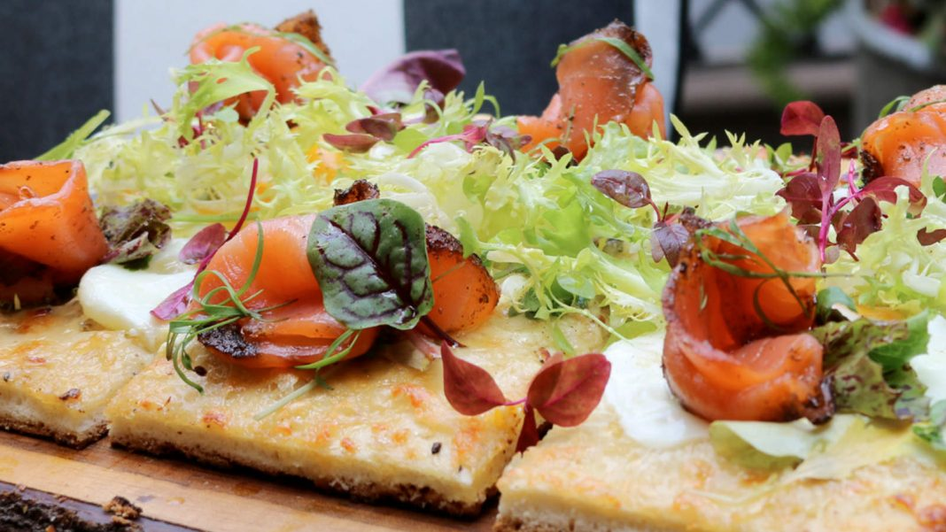 Salmon Flatbread