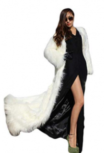 New Look Coat in Fluffy Faux Fur