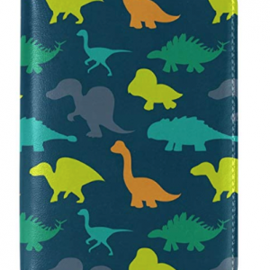 WOZO Hipster Dinosaur Animal Passport Holder Cover Case Travel 1 Pocket