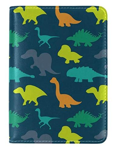 WOZO Hipster Dinosaur Animal Passport Holder Cover Case Travel 1 Pocket