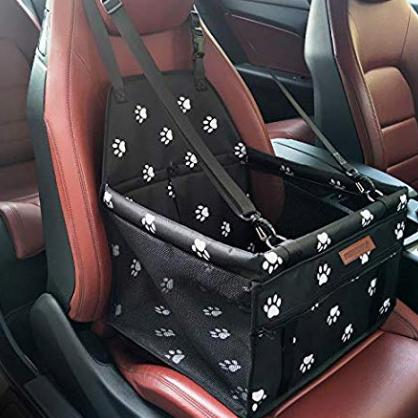 SWIHELP Pet Car Booster Seat Travel Carrier Cage