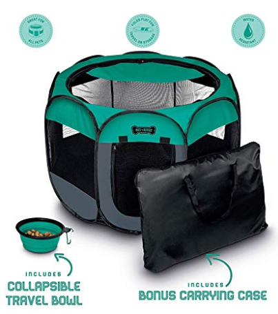 Ruff 'n Ruffus Portable Foldable Pet Playpen + Carrying Case