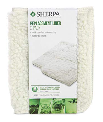 Sherpa Travel Airline Approved Pet Carrier Water Proof Comfort Replacement Liners