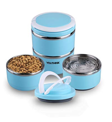 YOUTHINK Travel Dog Bowl Stainless Steel Fit